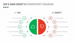 Do's and Dont's PowerPoint Diagram