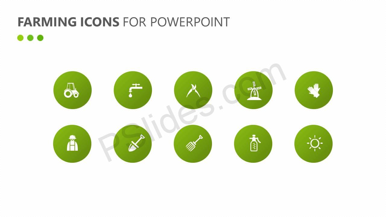 Farming Icons for PowerPoint Slide1