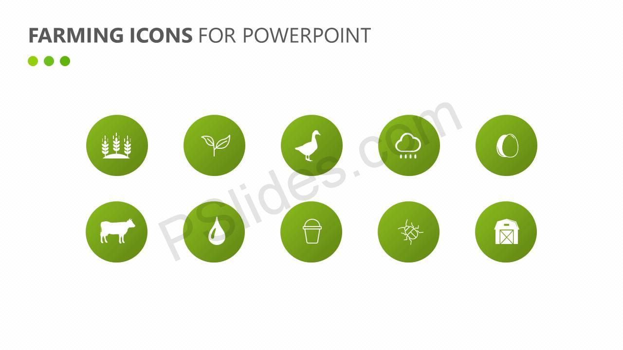 Farming Icons for PowerPoint Slide2