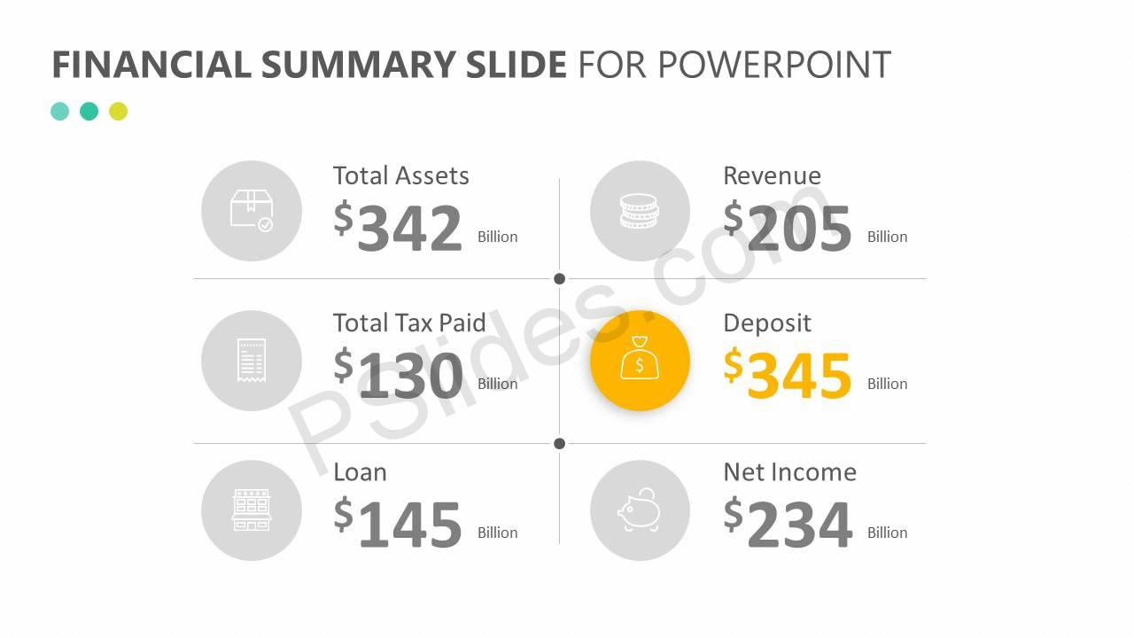Financial Summary Slide for PowerPoint Slide2