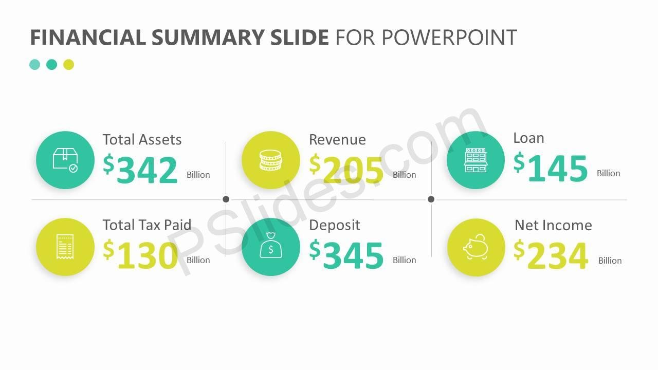 Financial Summary Slide for PowerPoint Slide3