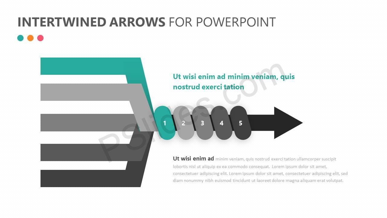 Intertwined Arrows for PowerPoint Slide 2