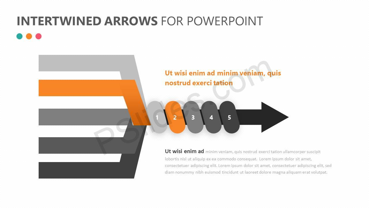 Intertwined Arrows for PowerPoint Slide 3