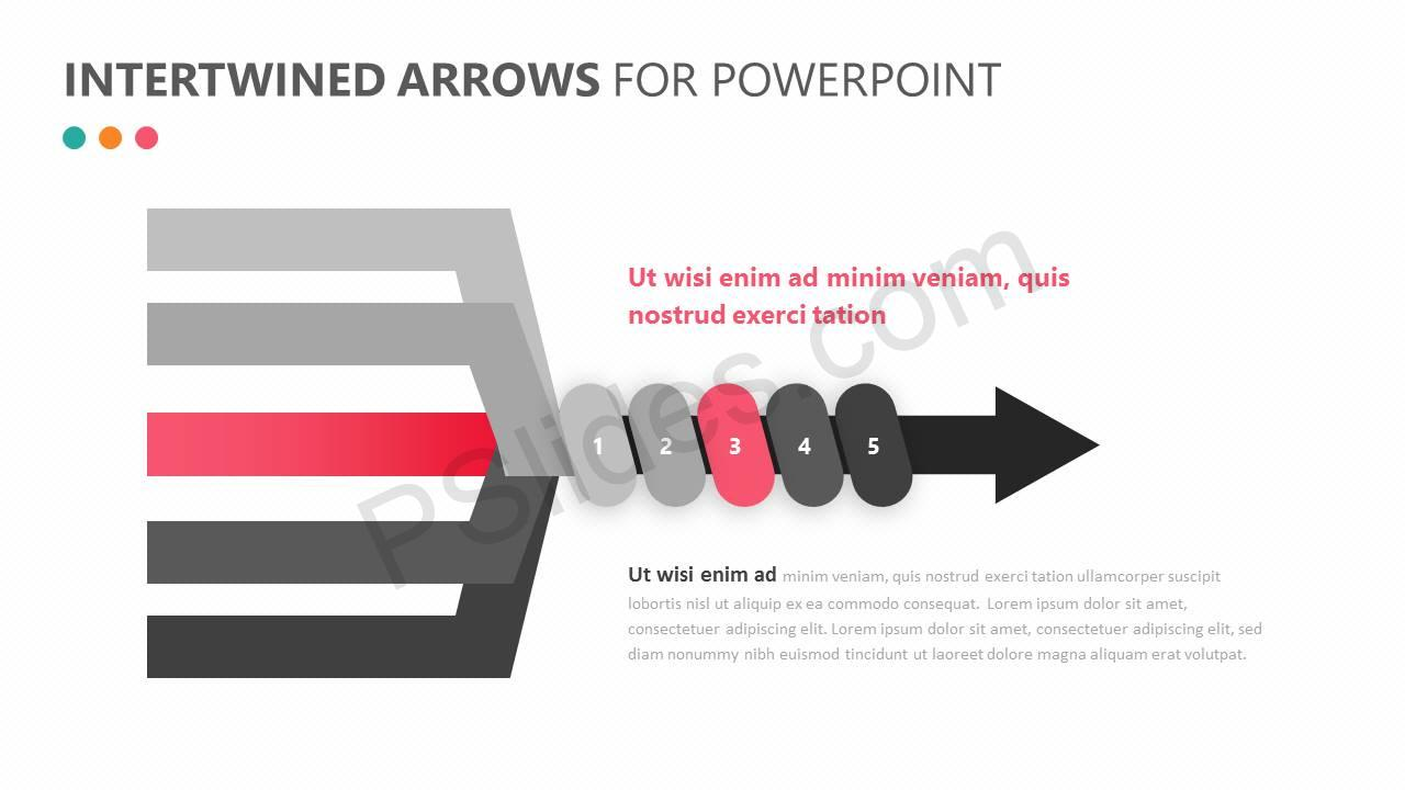 Intertwined Arrows for PowerPoint Slide 4