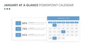 January at a Glance PowerPoint Calendar