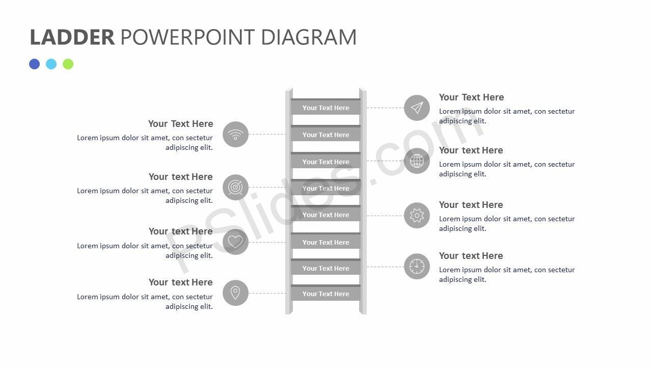 Ladder PowerPoint Diagram Slide2