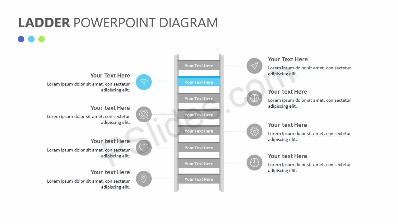 Ladder PowerPoint Diagram Slide3