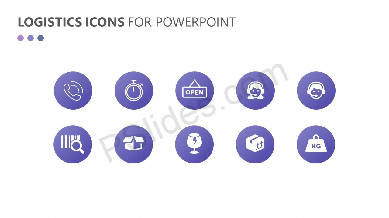 Logistics and Transportation PowerPoint Icons Slide2
