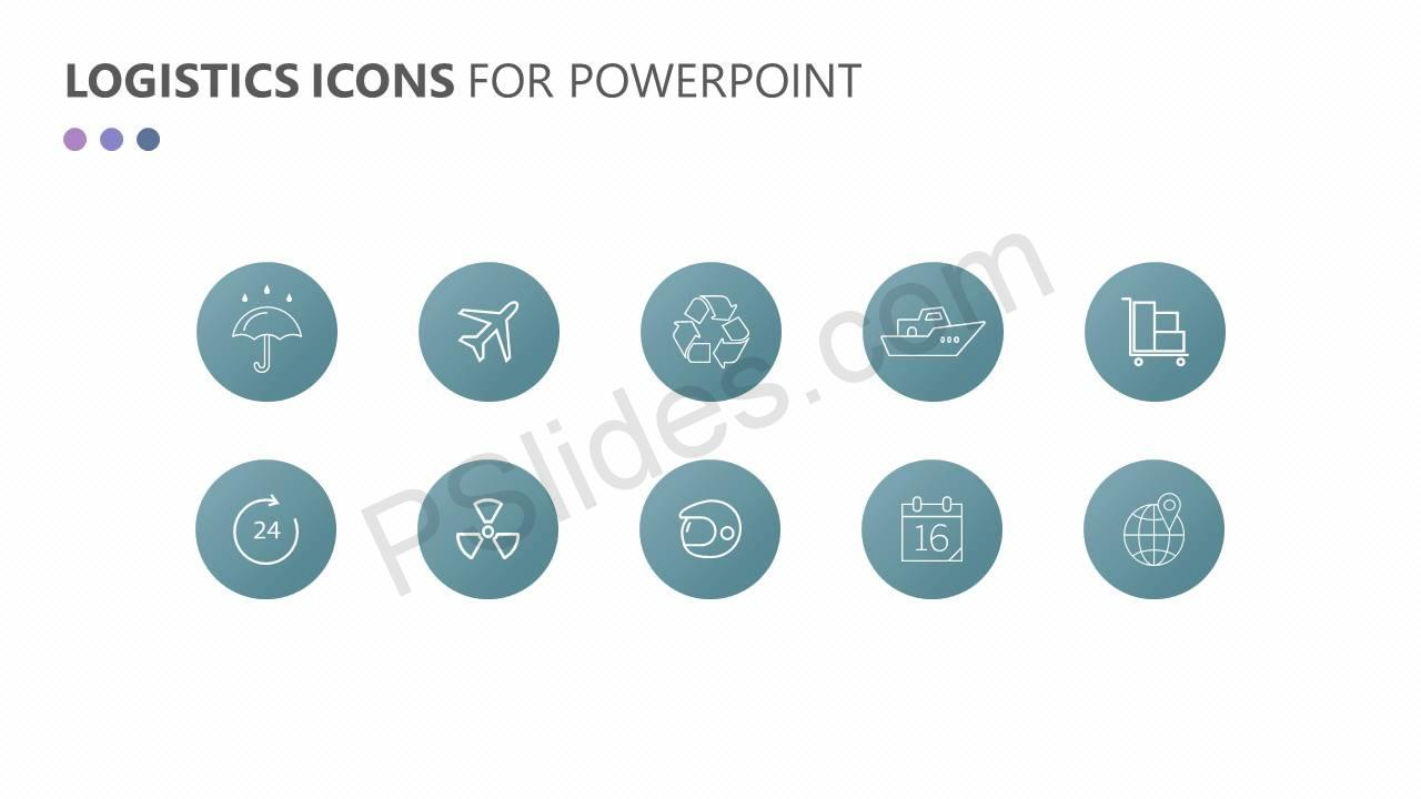 Logistics and Transportation PowerPoint Icons Slide3