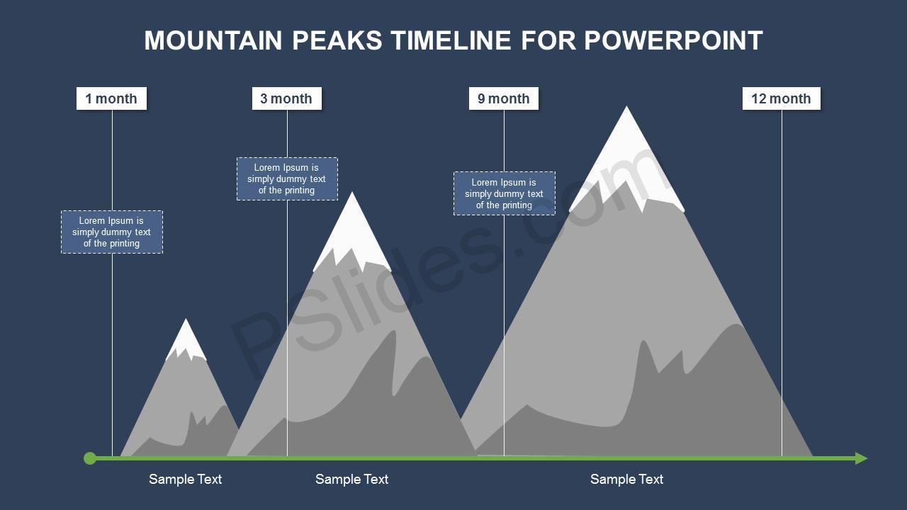 Mountain Peaks Timeline Slide1