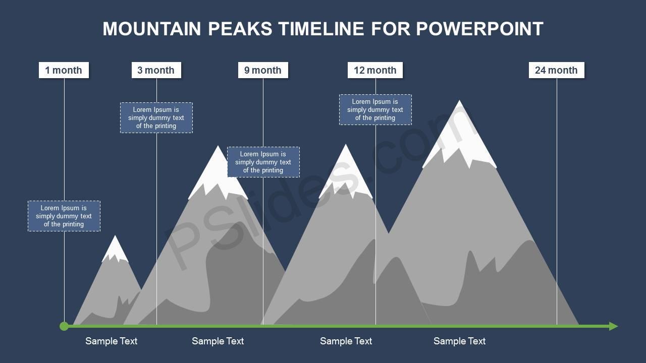 Mountain Peaks Timeline Slide2