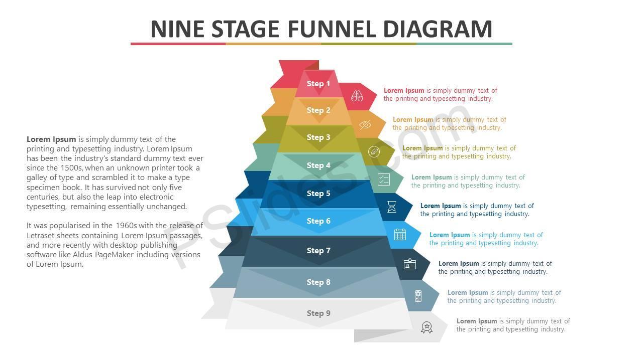 Nine-Stage-Funnel-PowerPoint-Diagram-Slide1