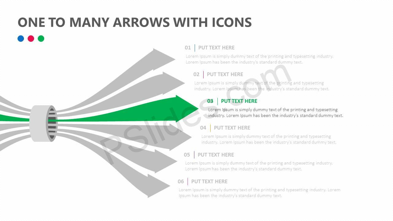 One-To-Many-Arrows-With-Icons-Slide2