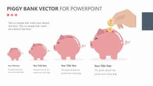 Piggy Bank Vector for PowerPoint