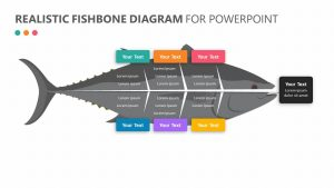 Realistic Fishbone Diagram for PowerPoint Slide 1