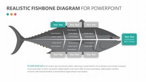 Realistic Fishbone Diagram for PowerPoint Slide 2