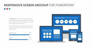 Responsive Screen Mockup for PowerPoint
