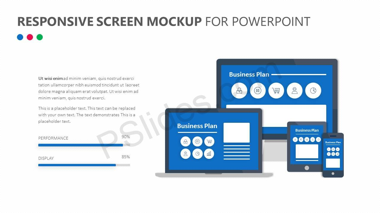 Responsive Screen Mockup for PowerPoint Slide1