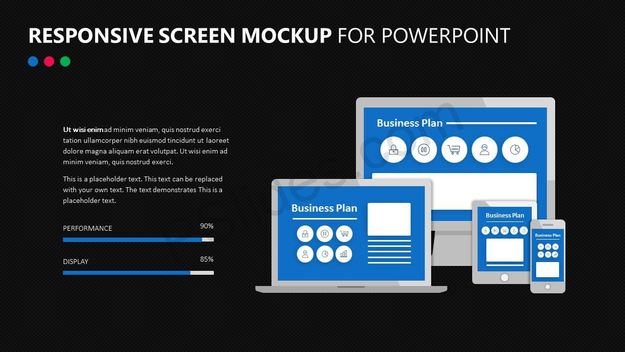 Responsive Screen Mockup for PowerPoint Slide2