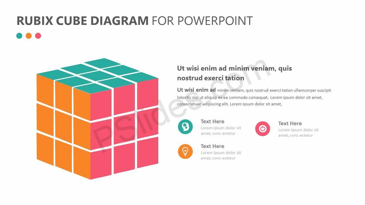 Rubix Cube PowerPoint Diagram Slide1