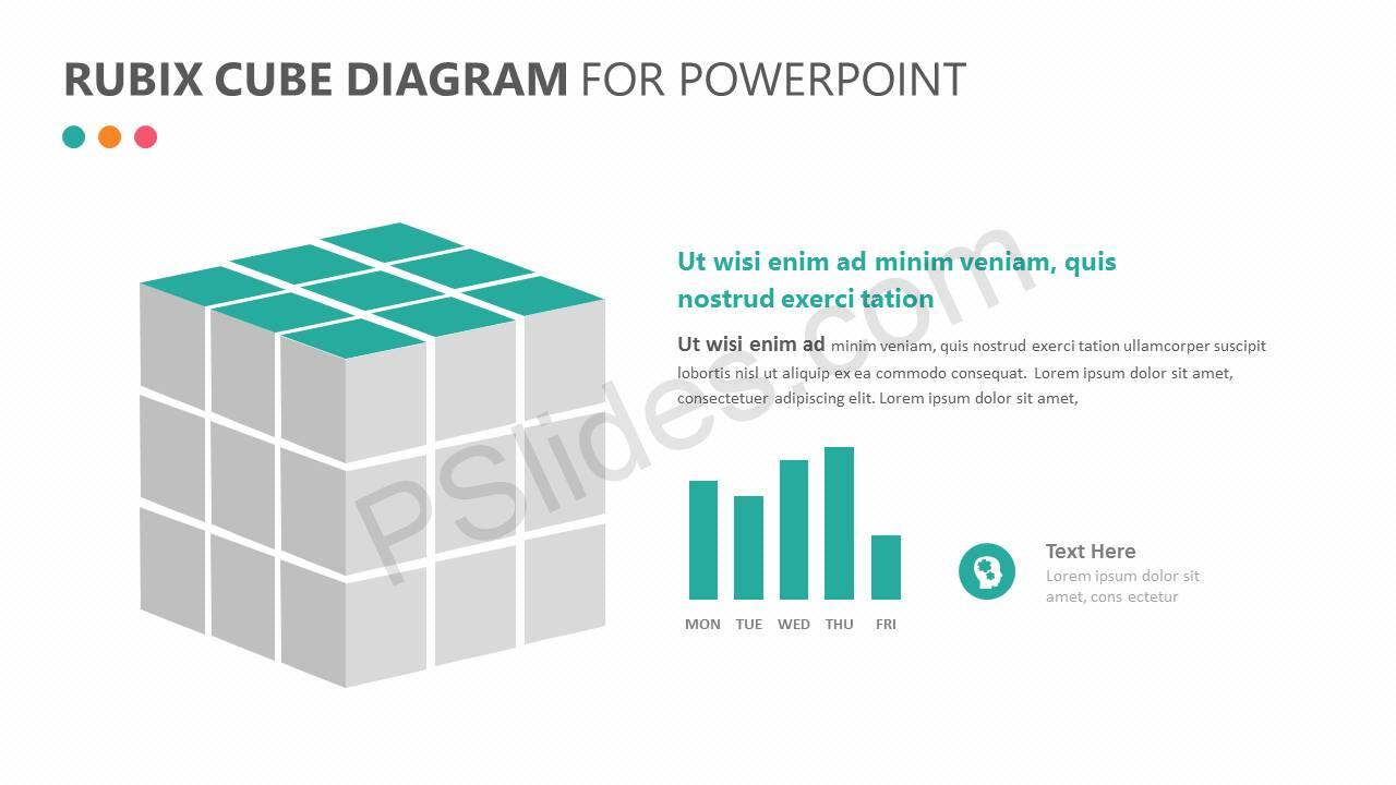 Rubix Cube PowerPoint Diagram Slide2
