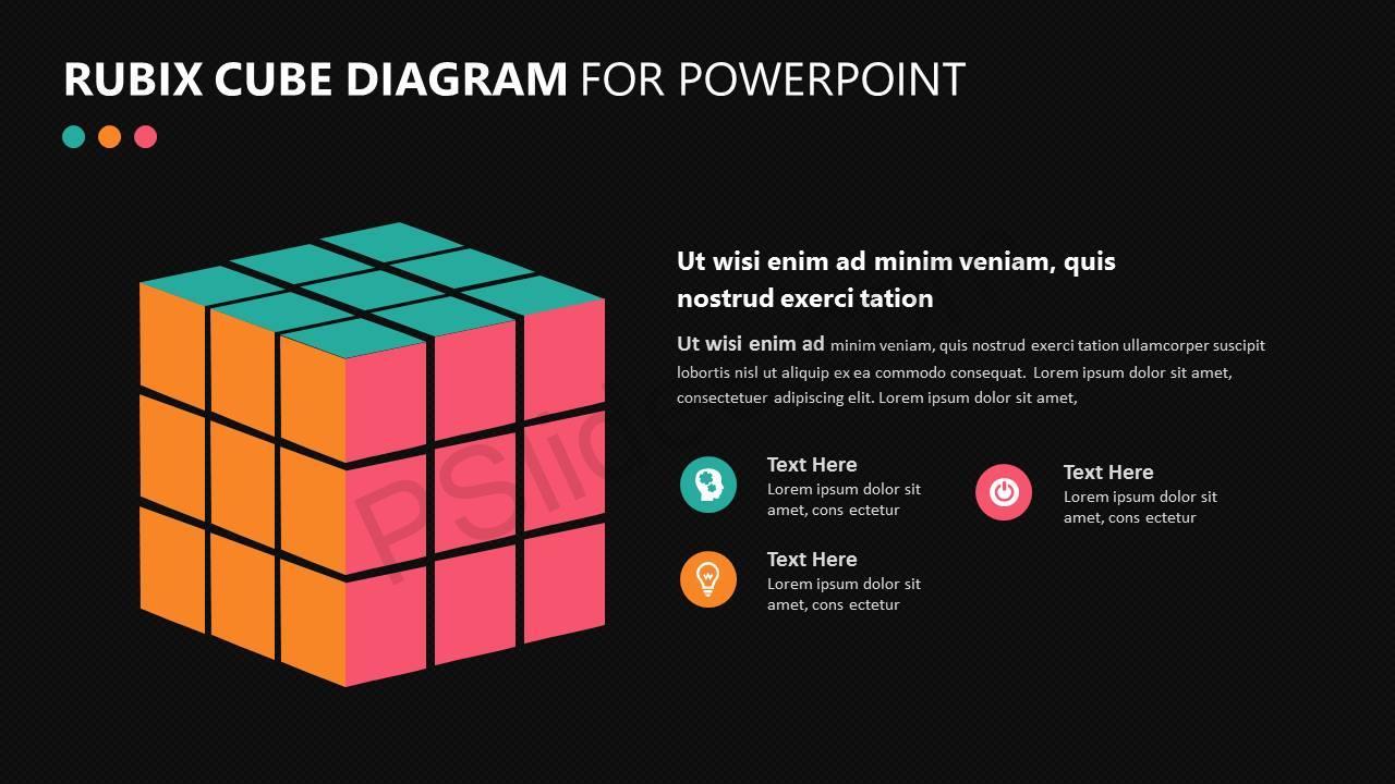 Rubix Cube PowerPoint Diagram Slide3