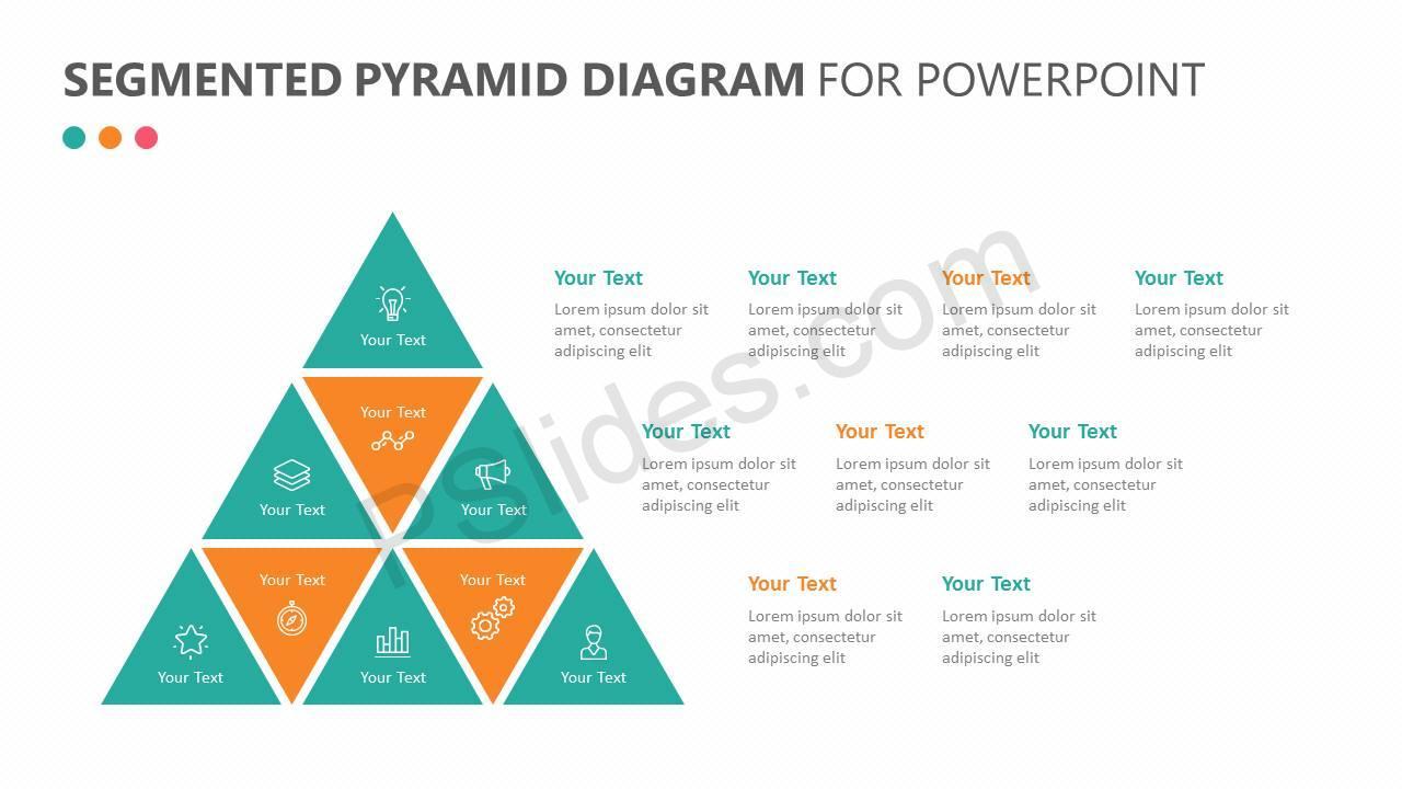 Segmented Pyramid Diagram for PowerPoint Slide 1
