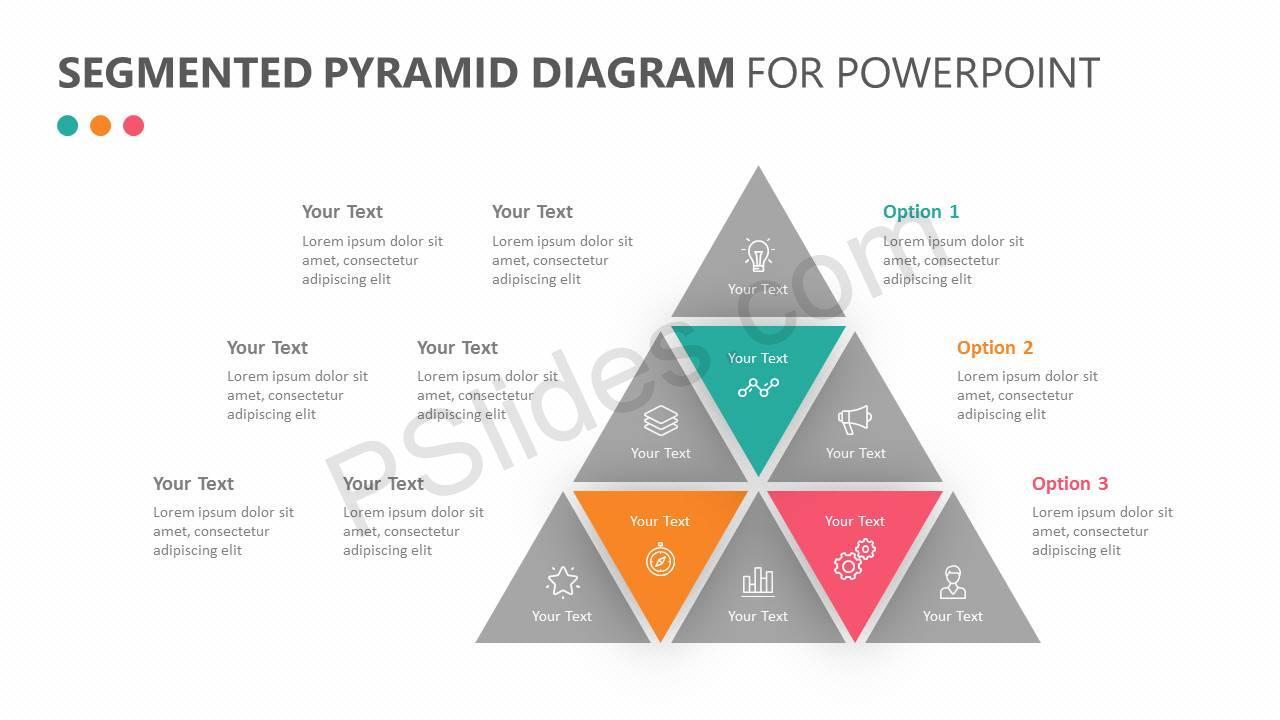 Segmented Pyramid Diagram for PowerPoint Slide 3