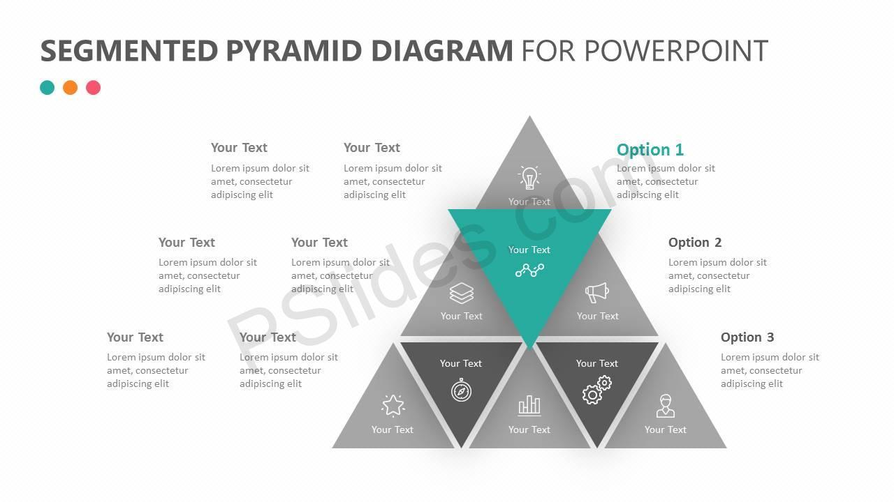 Segmented Pyramid Diagram for PowerPoint Slide 4