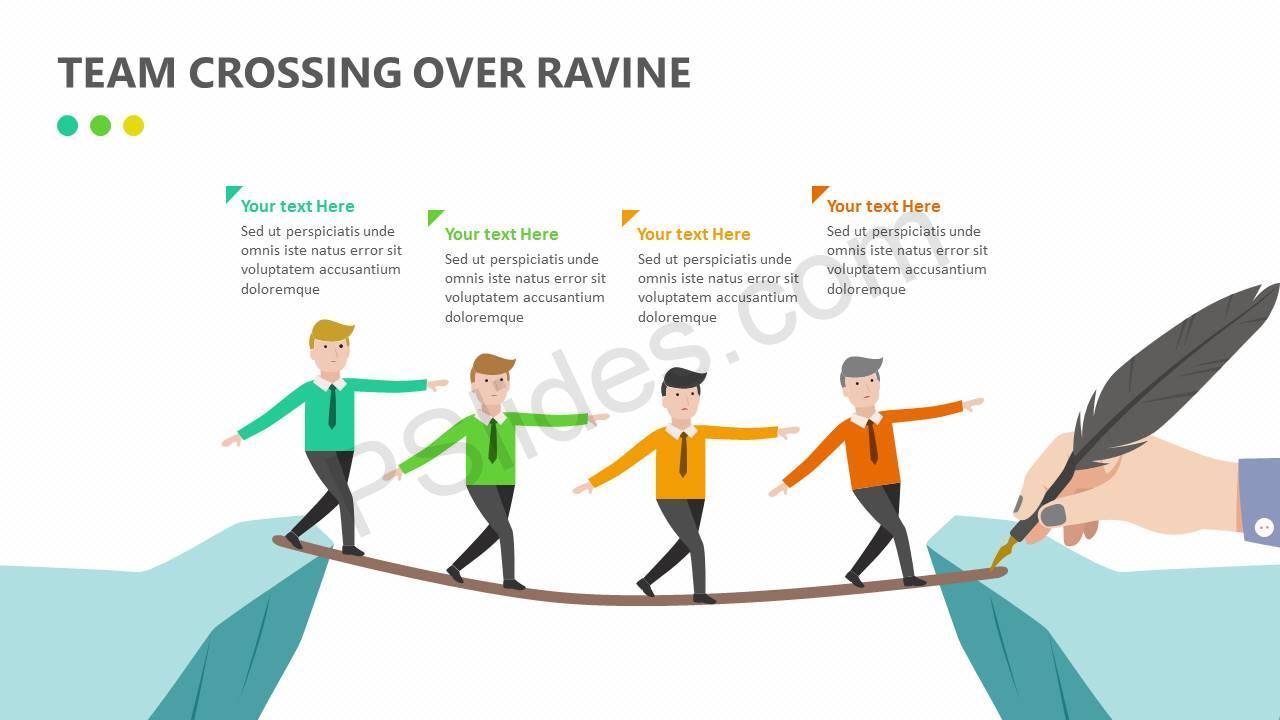 Team Crossing Over Ravine Slide1