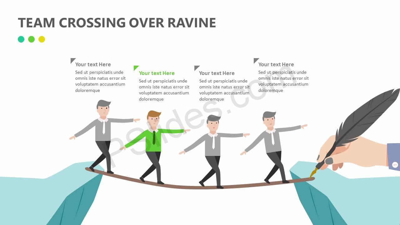 Team Crossing Over Ravine Slide2