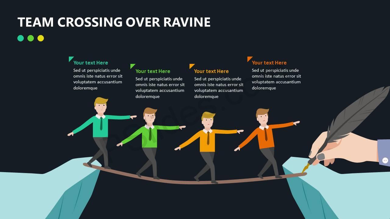 Team Crossing Over Ravine Slide3