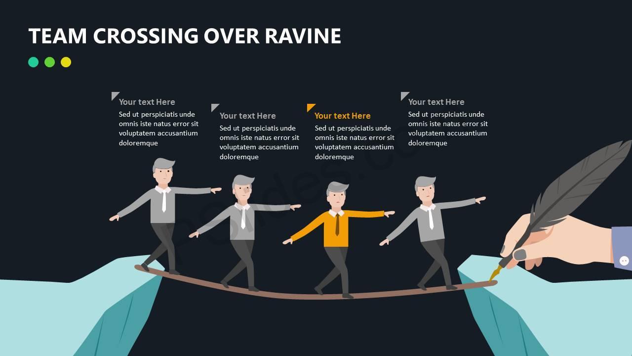 Team Crossing Over Ravine Slide4