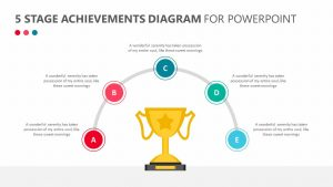5 Stage Achievements Diagram for PowerPoint