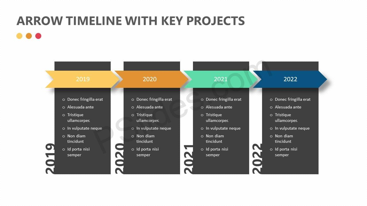 Arrow-Timeline-with-Key-Projects-Slide1