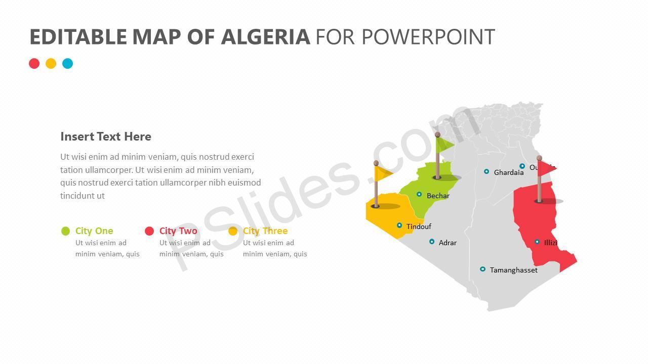 Editable-Map-of-Algeria-for-PowerPoint-Slide1