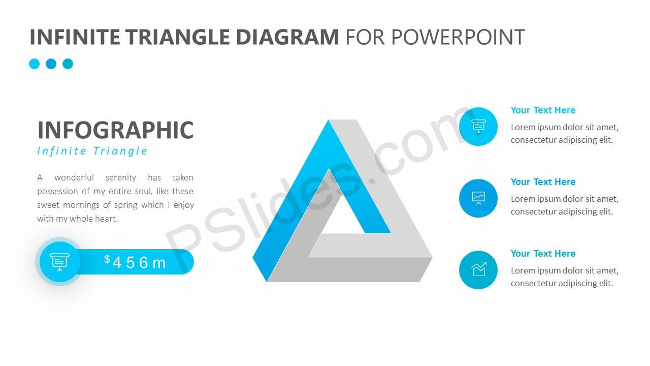 infinite triangle diagram for powerpoint slide1
