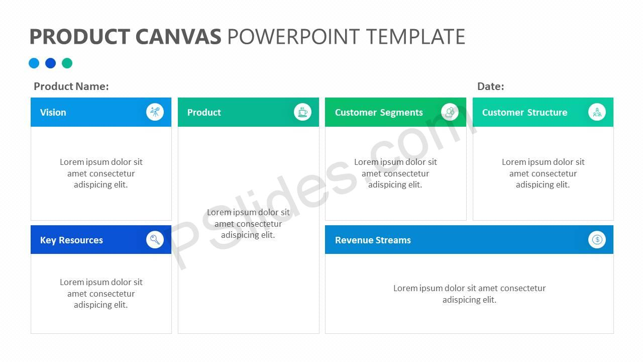 Product Canvas Powerpoint Template Pslides