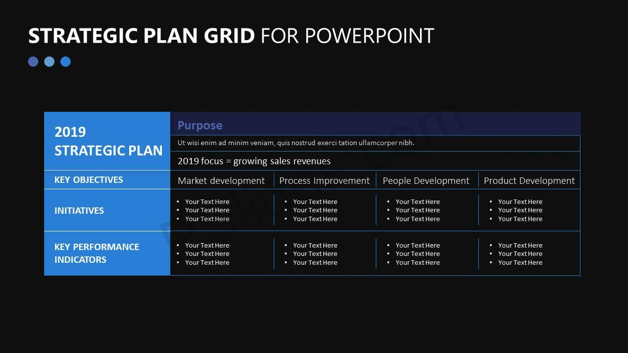 Strategic Plan Grid for PowerPoint | PSlides