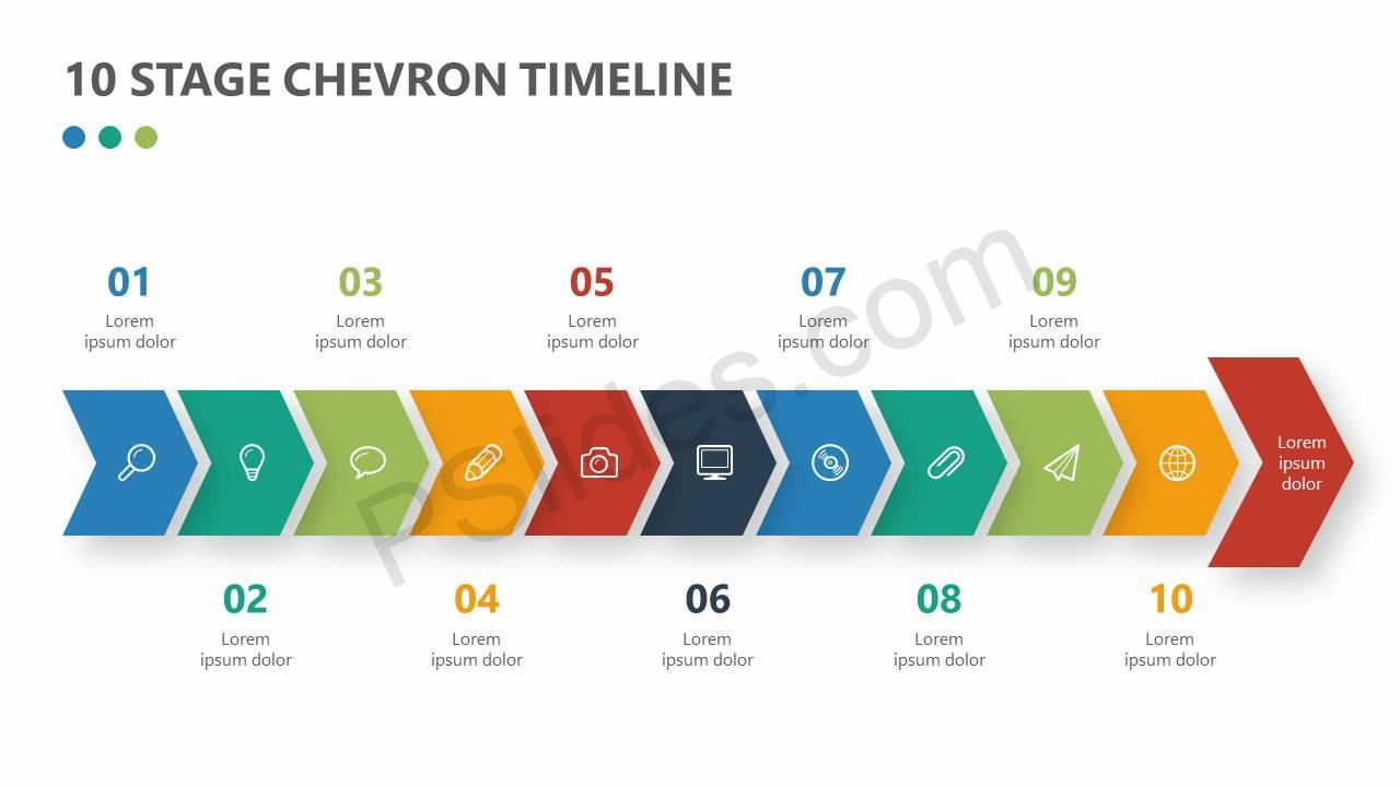 10-Stage-Chevron-Timeline-for-PowerPoint-Slide1