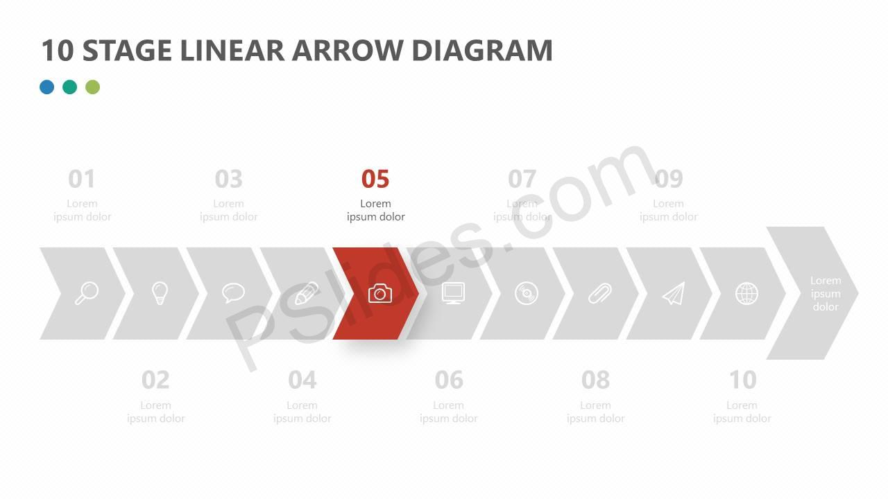 10-Stage-Chevron-Timeline-for-PowerPoint-Slide2