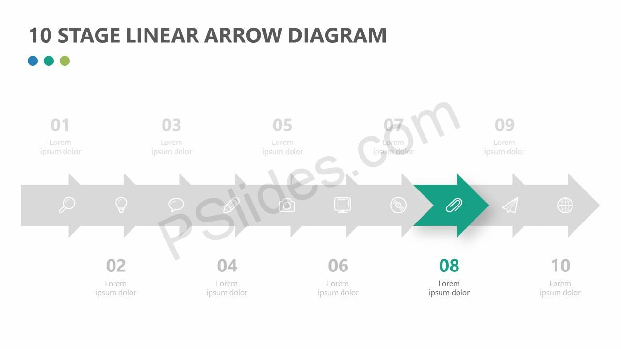 10-Stage-Linear-Arrow-Diagram-for-PowerPoint-Slide2