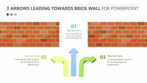 3 Arrows Leading Towards Brick Wall