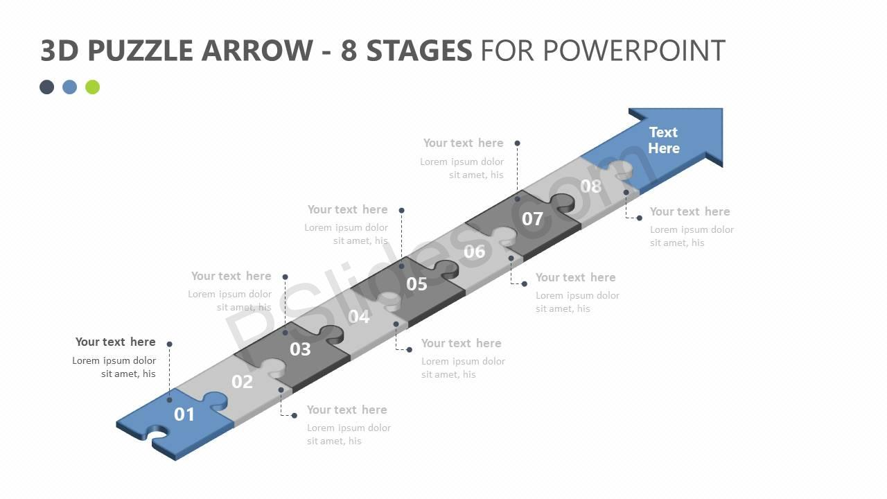 3D-Puzzle-Arrow-8-Stages-For-PowerPoint-Slide2