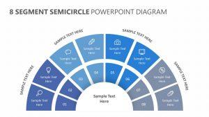 8 Segment Semicircle PowerPoint Diagram