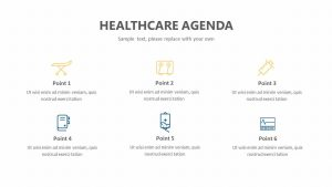 Healthcare Agenda PowerPoint Slide