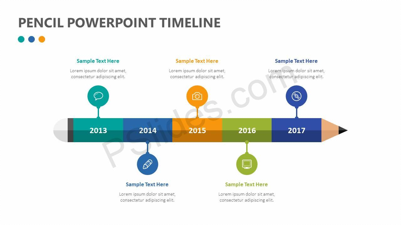 Pencil-PowerPoint-Timeline-Slide1-Copy