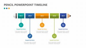 Pencil PowerPoint Timeline