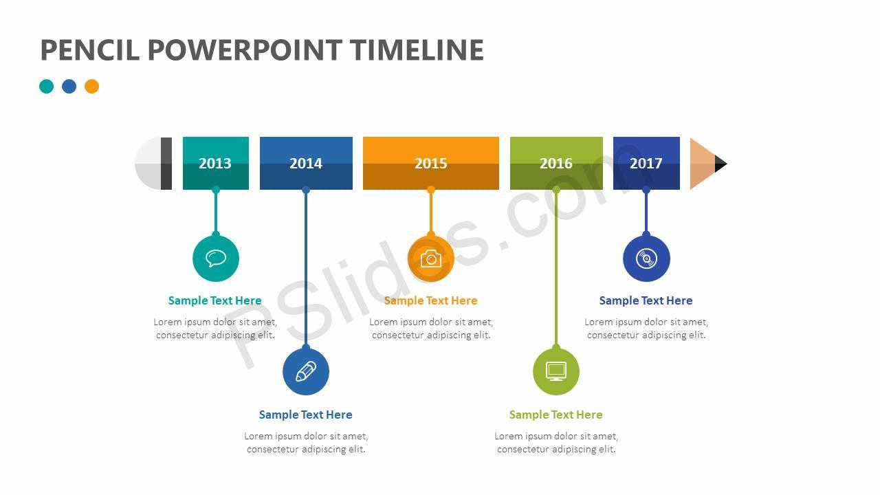 Pencil-PowerPoint-Timeline-Slide2