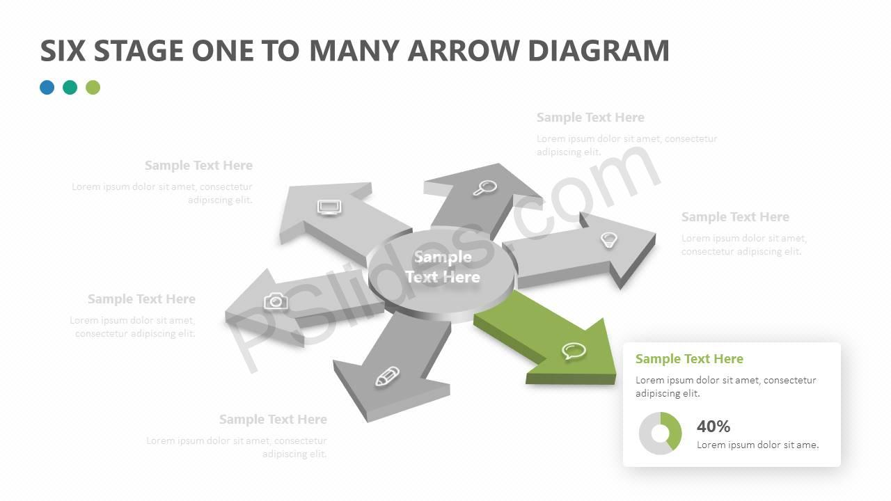 Six-Stage-One-to-Many-Arrow-Diagram-Slide3